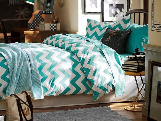 Chevron dorm room