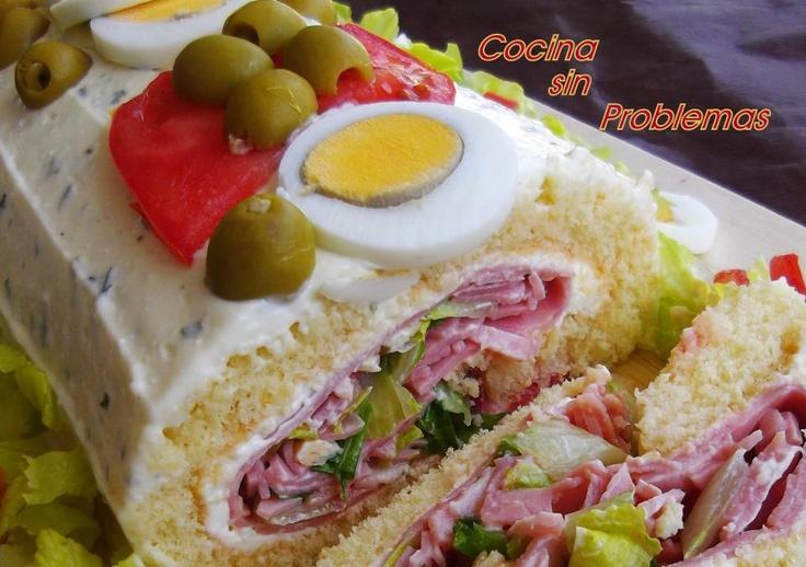 Cocina Sin Problemas: Pionono salado.