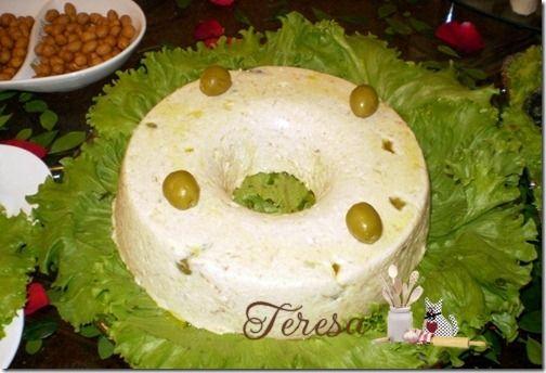 Mousse salgada é sempre uma boa sugestão como opção para petiscos ou refeições mais rápida....