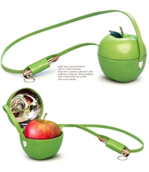"""It's just made to be beautiful so it's not extremely stupid, but it stuff can be both beautiful and stupid.     """"Hermes apple holder."""""""