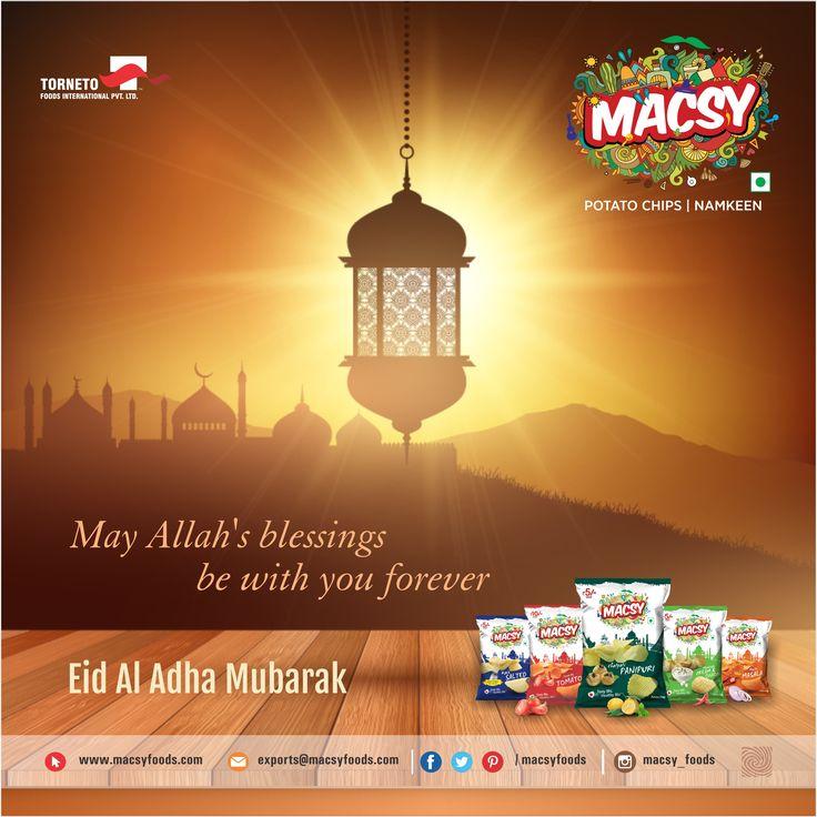 May Allah's blessings be with you forever. Ed al-Adha Mubarak #MacsyFoods #fryum #weafers #instafood #namkeen #snacks #eid #happyeid #eidmubarak