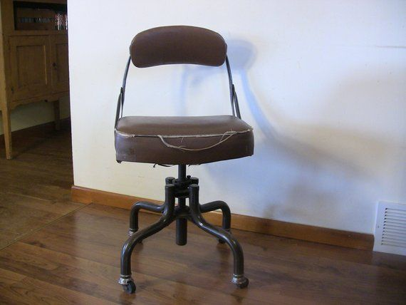 vintage domore swivel desk chair industrial steampunk decor 1940s rh pinterest com