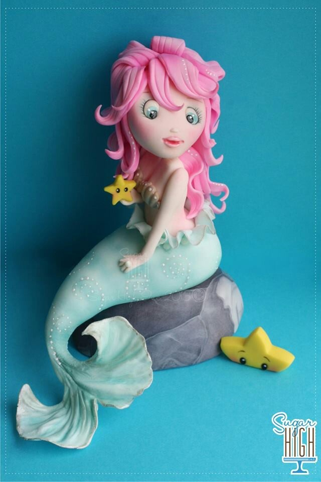 how to make a mermaid out of fondant