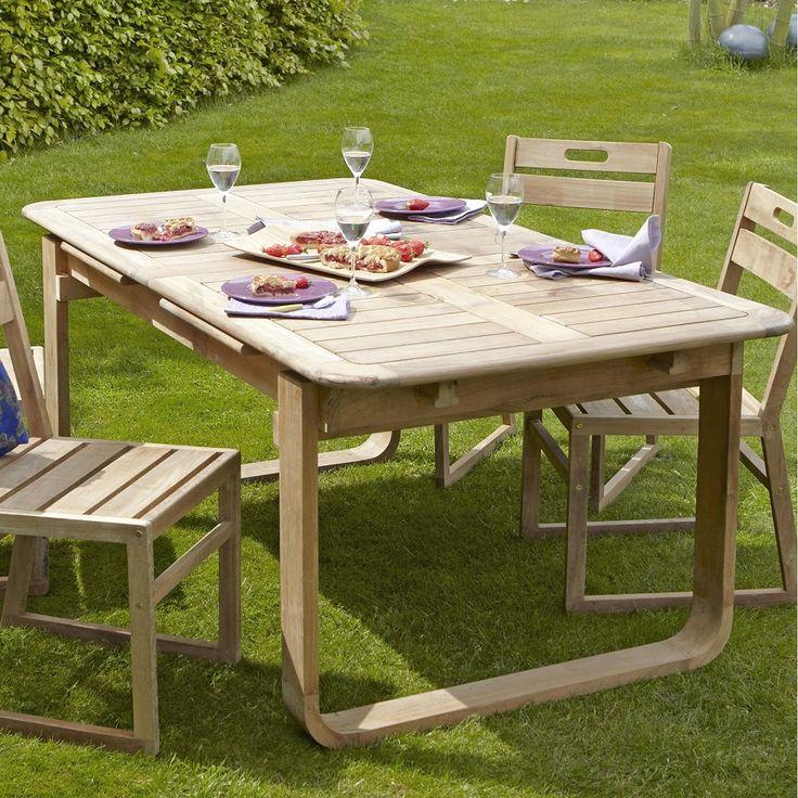 Table de jardin NATERIAL Resort rectangulaire naturel 6/8 personnes - Leroy Merlin