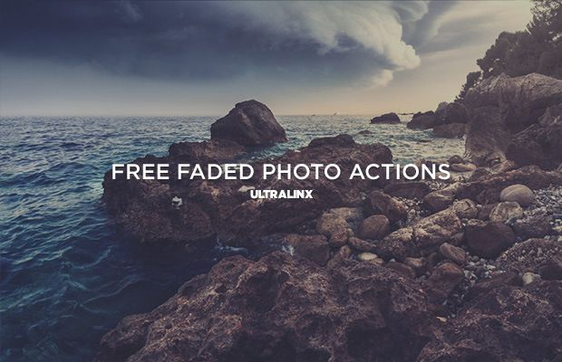 free faded photo actions