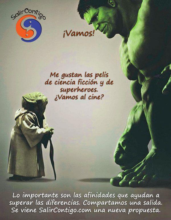 Motivacional superhéroes para SalirContigo.com en Facebook