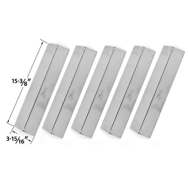 5 Pack Stainless Steel Vaporizor Bar for Charmglow Models 810-8410-F, 810-8410-S, Brikmann & Grill King Gas Grill Models