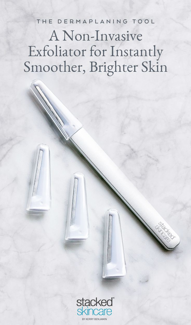 2017 Total Beauty Awards Editors' Pick Winner - The StackedSkincare Dermaplaning Tool Is An Advance At-Home Treatment To Give Your Complexion A Luminous Glow. Say Goodbye To Dead Skin Cells and Peach Fuzz.