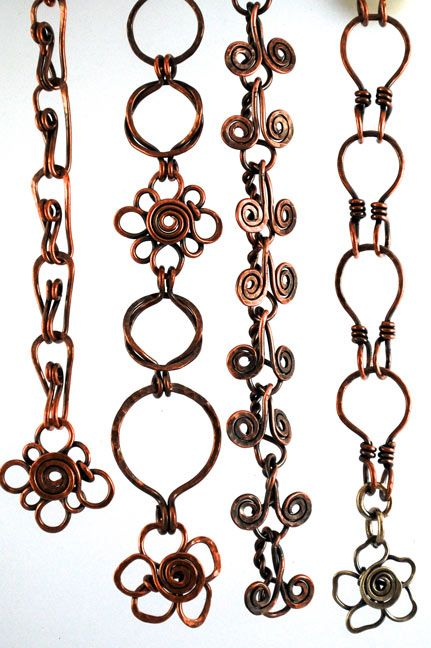 Wire chains. The link goes to a page that's no longer valid, but the picture is nice.