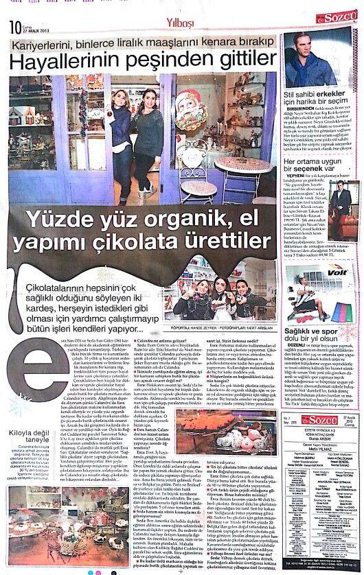Calandra Chocolat ♥ newspaper #magazine #calandrachocolat #handmadechocolate