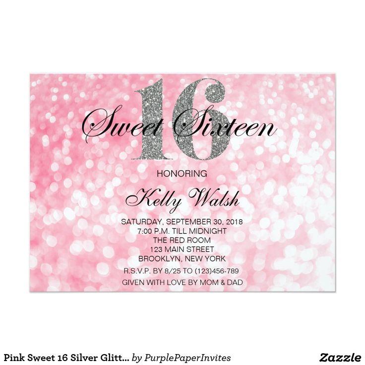 17 Best Sweet 16 Invitations Images On Pinterest Sweet 16