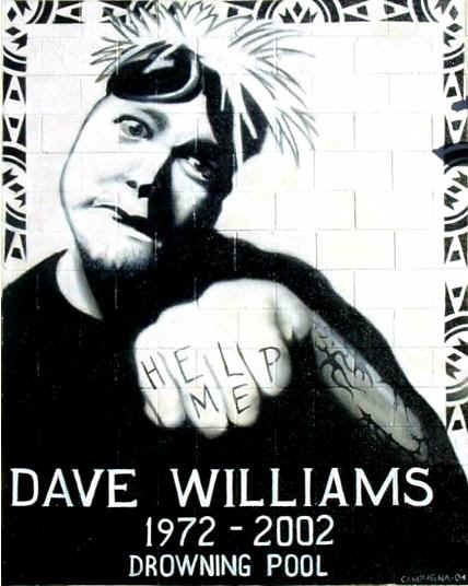 Dave Williams, lead singer of Drowning Pool. [My fiancee and I met his brother at The House of Blues in Orlando!!!!]