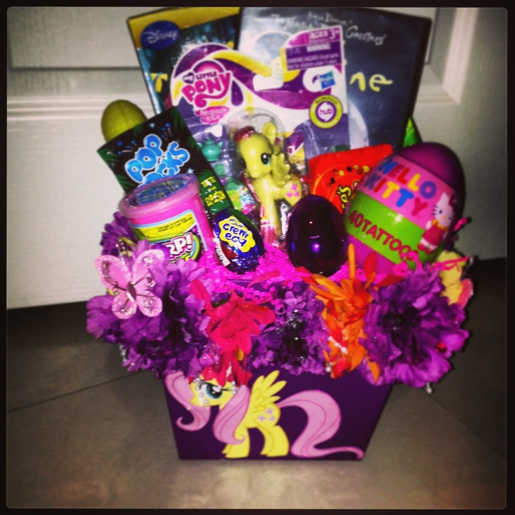 520 best gifts baskets and various gifts images on pinterest diy my little pony easter basket can get mlp stickers to decorate basket negle Image collections