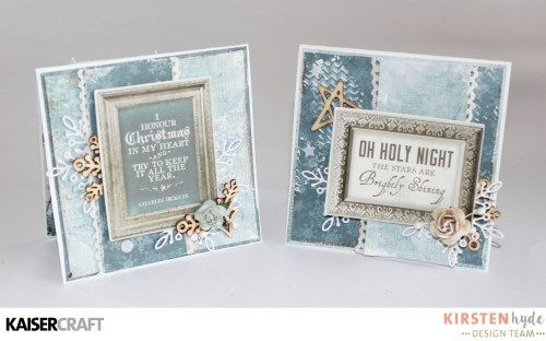 KAISERCRAFT - FROSTED - CHRISTMAS CARDS - KIRSTEN HYDE - MYHYDEAWAY - 1