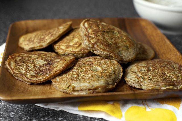 zucchini bread pancakes by smitten, via Flickr: Smitten Kitchen, Smittenkitchen, Olive Oil, Bread Pancakes, Breads, Whole Wheat Pancakes, Zucchini Bread, Zucchini Pancakes