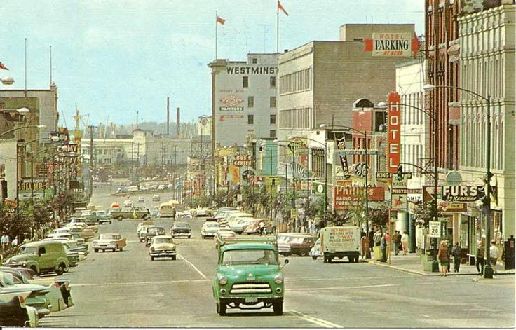 1950's picture downtown New Westminster.
