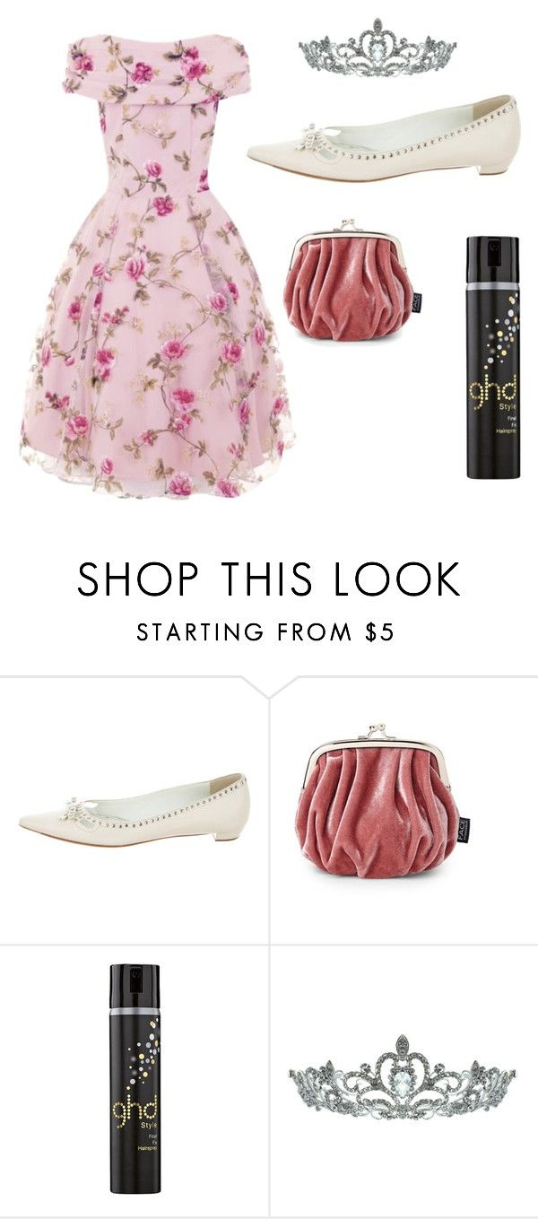 """Amber Von tussle Inspired"" by belle13lee on Polyvore featuring Prada, FACE Stockholm, GHD and Kate Marie"