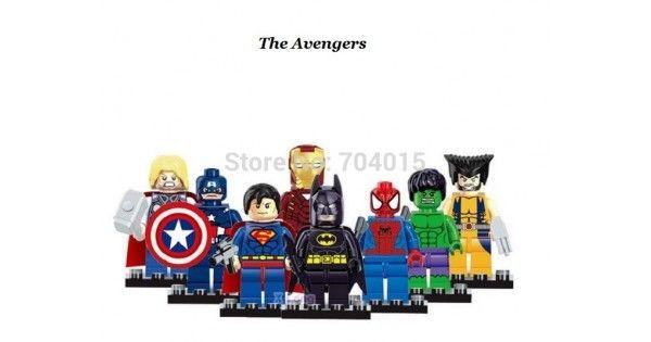 Set de 8 Figuras de The Avengers los vengadores de Marvel Super Heroes y DC…