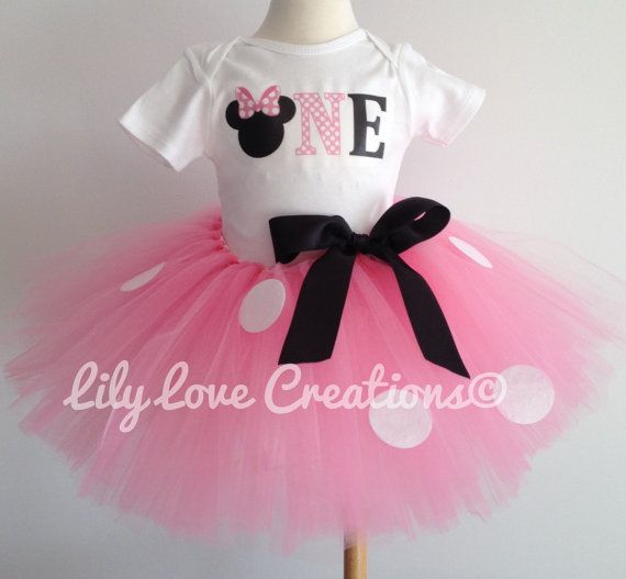 Minnie Mouse Birthday Outfit Minnie Mouse First by JessicaLilyLove