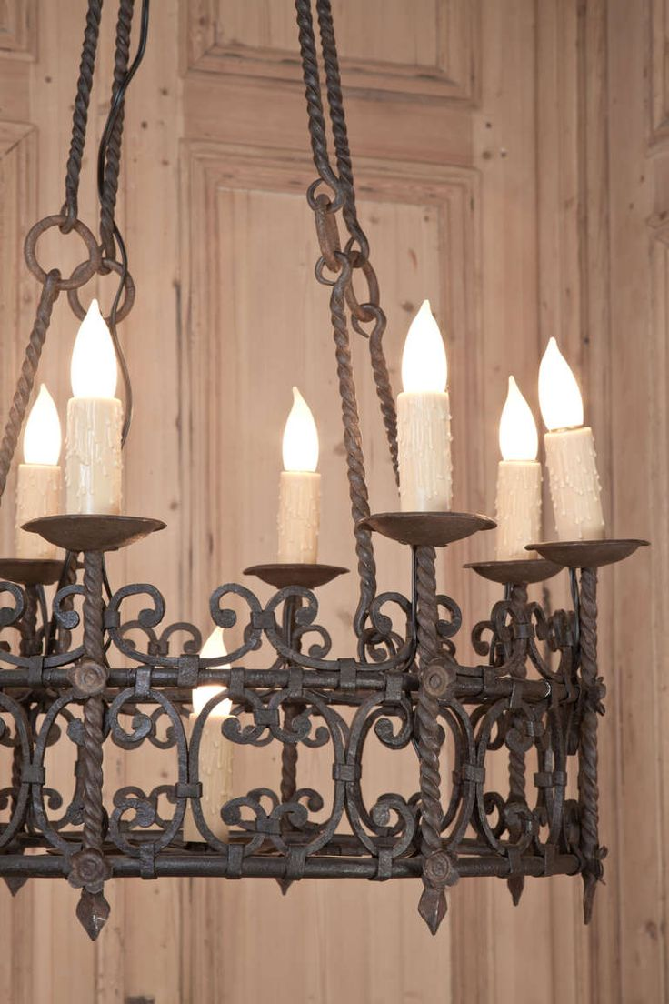 finial station rod chandelier iron antique wrought tudor preservation