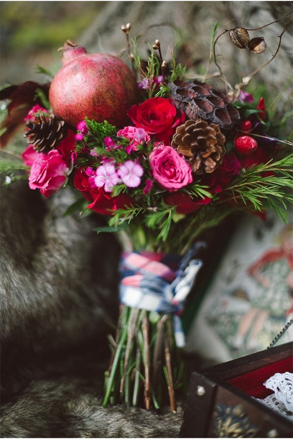 Marsala Bridal Bouquet.  Pinned by Afloral.com from http://styleunveiled.com/marsala-pantone/ ~Afloral.com has high-quality faux and preserved flowers for your DIY wedding bouquet.