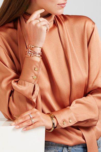 Tiffany & Co | T Wire 18-karat rose gold diamond ring | NET-A-PORTER.COM