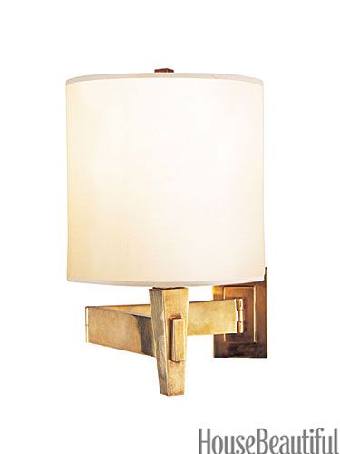 """By Peter Talbot. Swivels at wall and in middle; extends out 21½"""", $357. circalighting.com."""