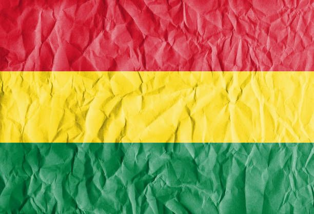 flag of bolivia with vintage old paper