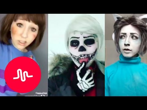 *NEW* Undertale Musical.ly Cosplay Compilation 2017 [Part 3 ish] - YouTube  Sans at the beginning just....hah