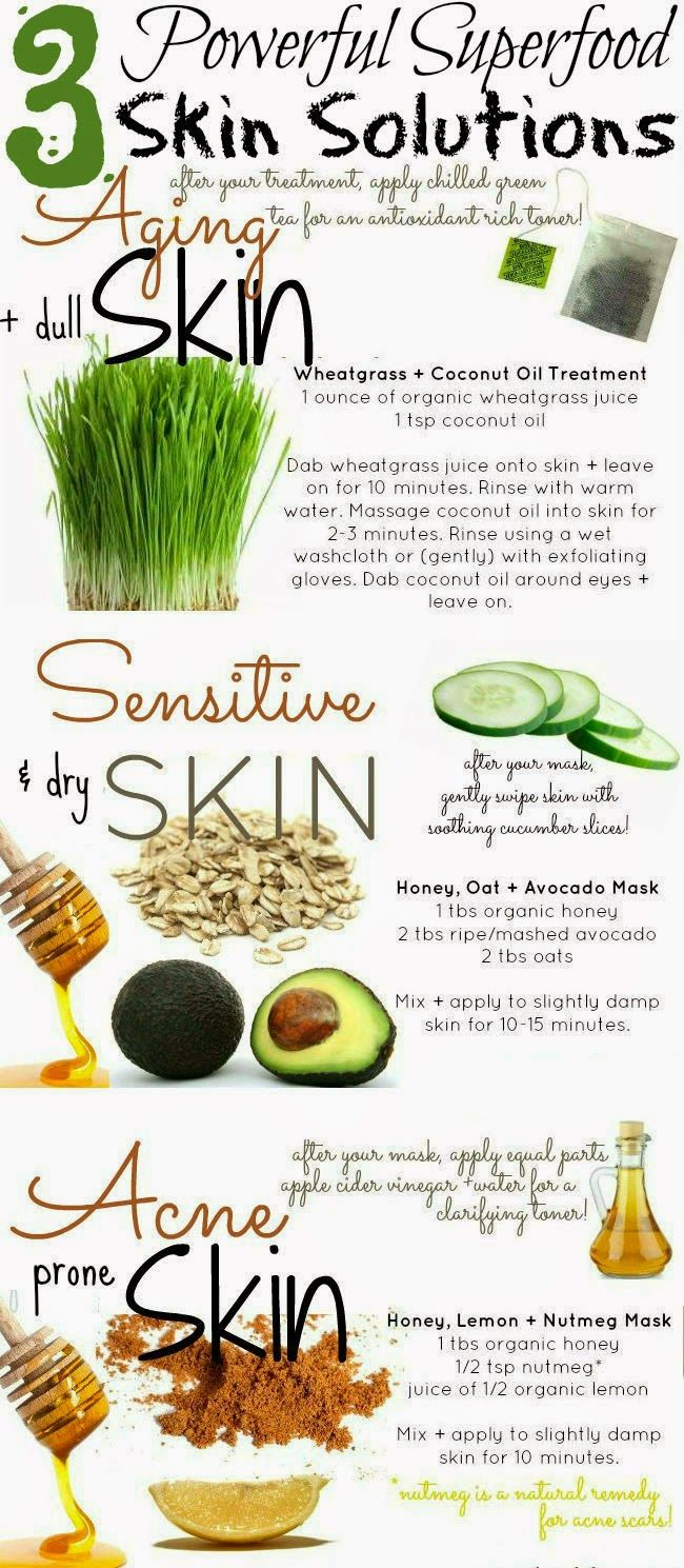 Skin Care And Health Tips: 3 Powerful Superfood Skin Solutions