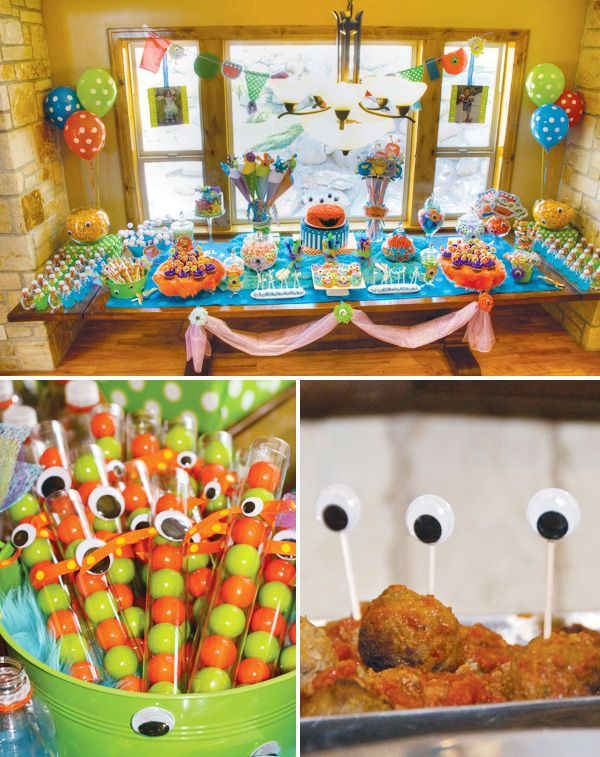 So cute its scary monster themed birthday party