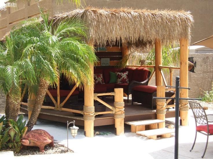 Our very own Beach Hut Palapa!   My backyard paradise ...