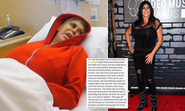 Angela 'Big Ang' Raiola dies after losing her cancer battle #DailyMail | These are some of the stories. See the rest @ http://twodaysnewstand.weebly.com/mail-onlinecom or Video's @ http://www.dailymail.co.uk/video/index.html