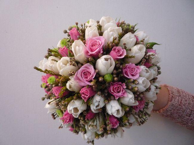 Свадебные букеты ( из тюльпанов - круглые №1 ) svadba-45