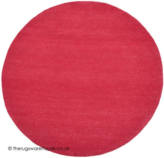 comfort raspberry circle rug a luxurious super heavy handmade 100 wool rug hand