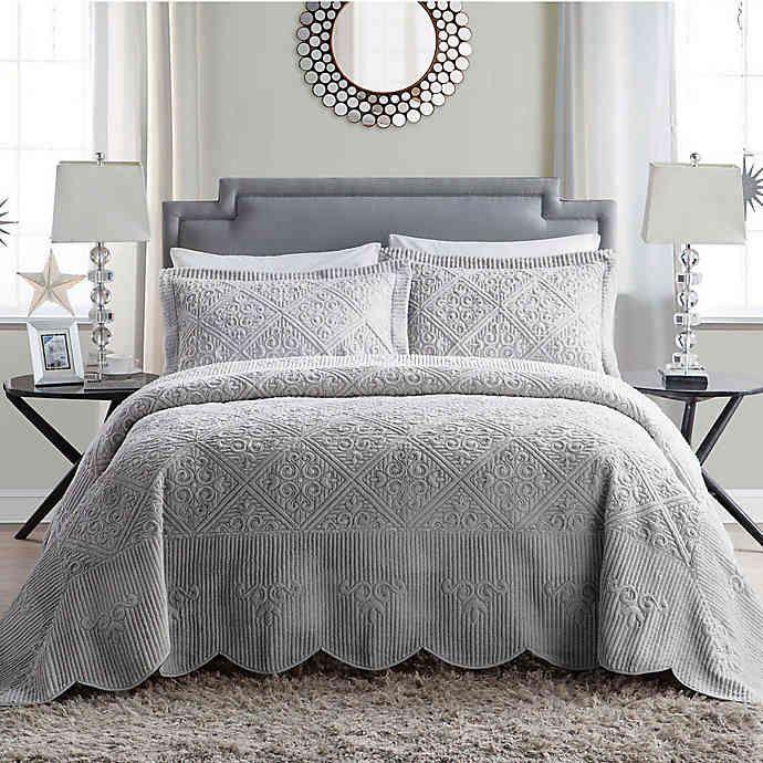 Vcny Home Westland Plush Bedspread Set Bed Bath Beyond