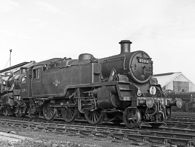 82016 Eastleigh Shed 27 October 1962 by pondhopper1 (500k visits tx), via Flickr
