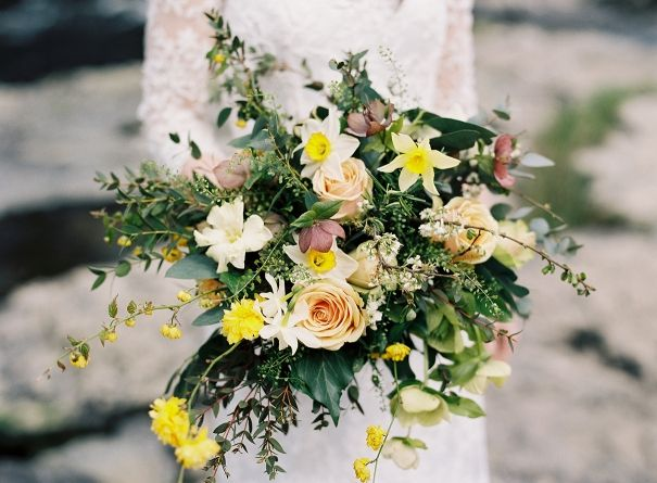 daffodil wedding bouquet