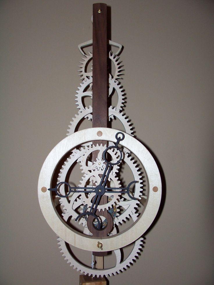 54 best Wooden Clock images on Pinterest | Wooden gears ...