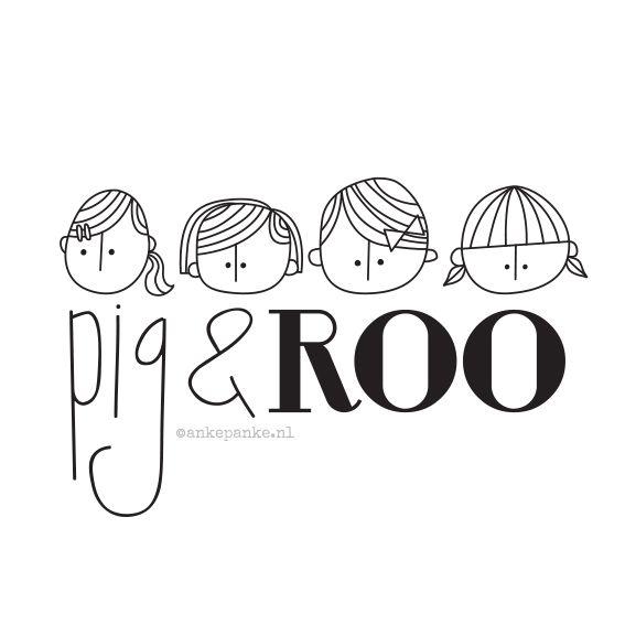 Logo design for Pig & Roo (webshop) by http://ankepanke.nl