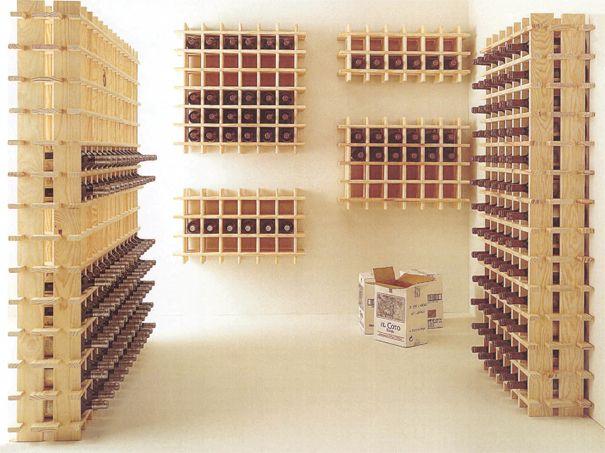 Oltre 25 fantastiche idee su portabottiglie per vino fai - Porta vini da parete ...