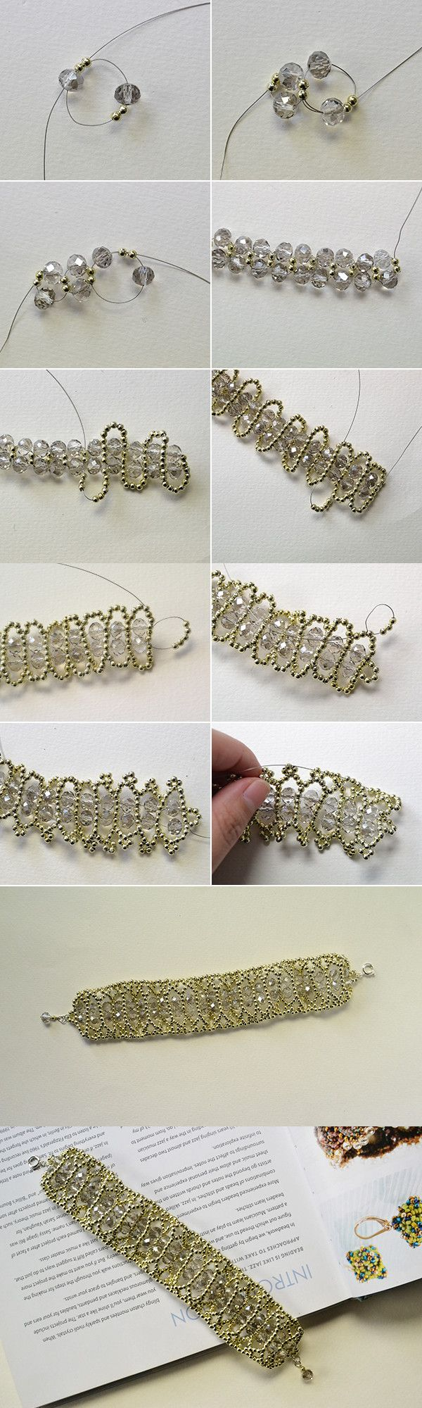 wide beaded bracelet making, interested? LC.Pandahall.com will share the making…