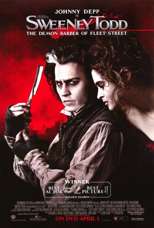 "CAST: Johnny Depp, Helena Bonham Carter, Alan Rickman, Sacha Baron Cohen, Jayne Wisener; DIRECTED BY: Tim Burton; Features: - 27"" x 40"" - Packaged with care - ships in sturdy reinforced packing materi"