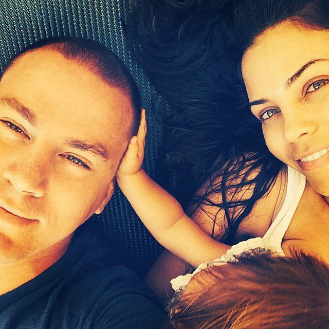 Channing Tatum and Jenna Dewan took a cute picture with their daughter on their anniversary.