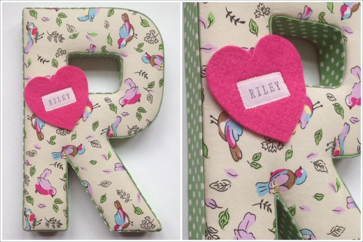 Fabric covered letter - R for Riley