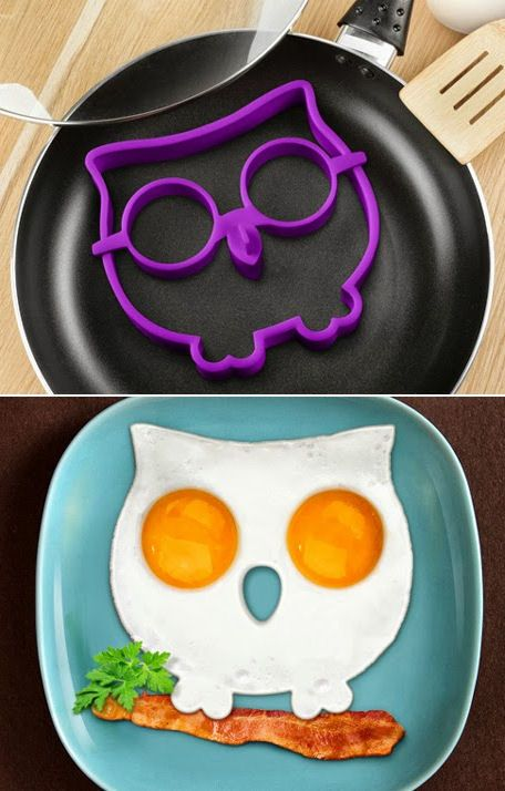Sunny Side Up Owl Egg Shaper ♥ #breakfast #cute #want