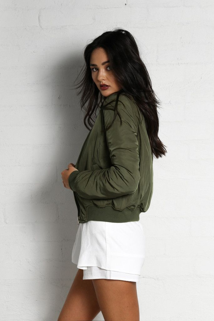 Pre-Order Only - The Game Changer Khaki Bomber Jacket by Madison Square (Due Early May)