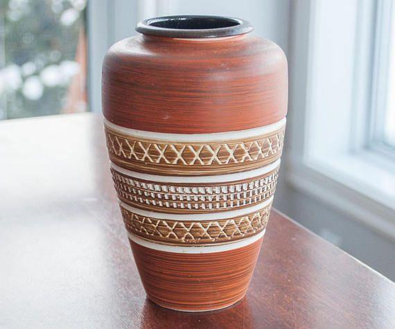 Poterie Allemagne de l'ouest Vase Vintage Mid Century