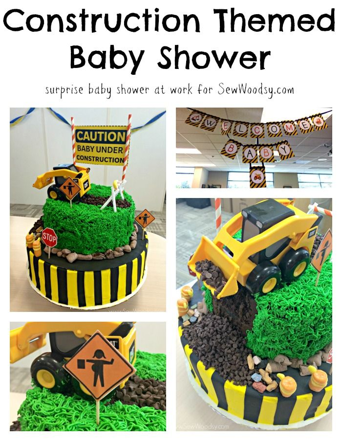 Construction Themed Baby Shower - a surprise baby shower at work for @Katie Jasiewicz @sewwoodsy