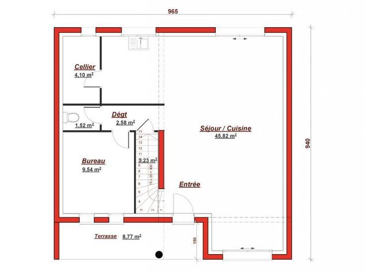 Best 49 plans de maisons ideas on pinterest cellier chambres et plans maison - Cuisine darty modele sorbonne ...
